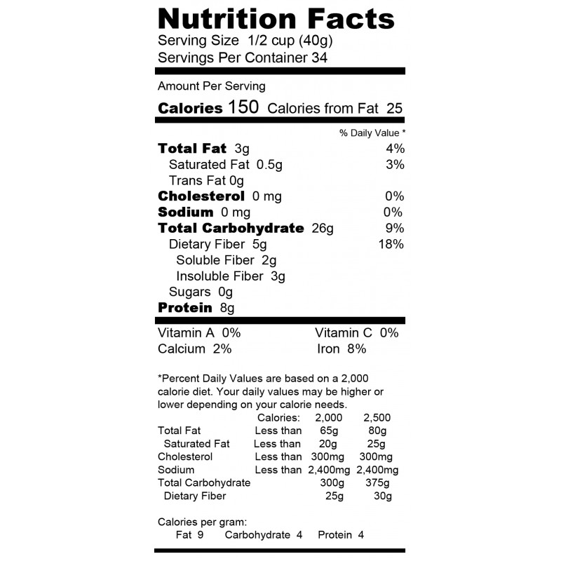 Organic Gluten Free Raw Oatmeal
